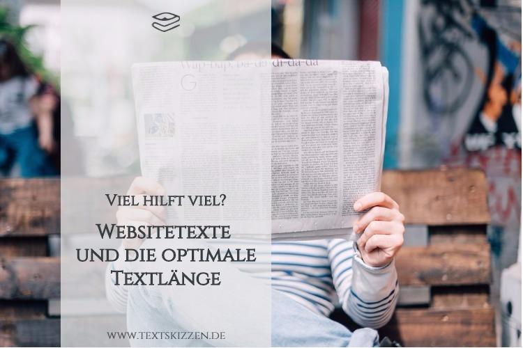 Websitetexte und die optimale Textlänge: Motiv Zeitungsleser auf Holzbank