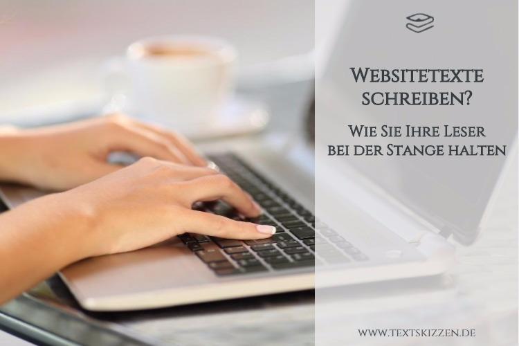 Leserfreundliche Websitetexte schreiben: Motiv Frauenhände auf Laptop-Tastatur