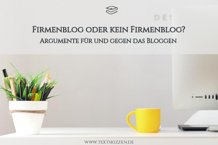 Argumente für ein Firmenblog: Moti Schreibtisch, PC, Tasse, Stifte und Grünpflanze