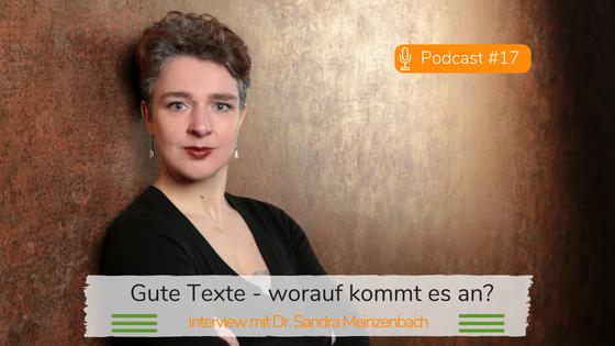 Gute Texte - worauf kommt es an? Podcast-Interview mit Manuela Kind: Foto Sandra Meinzenbach