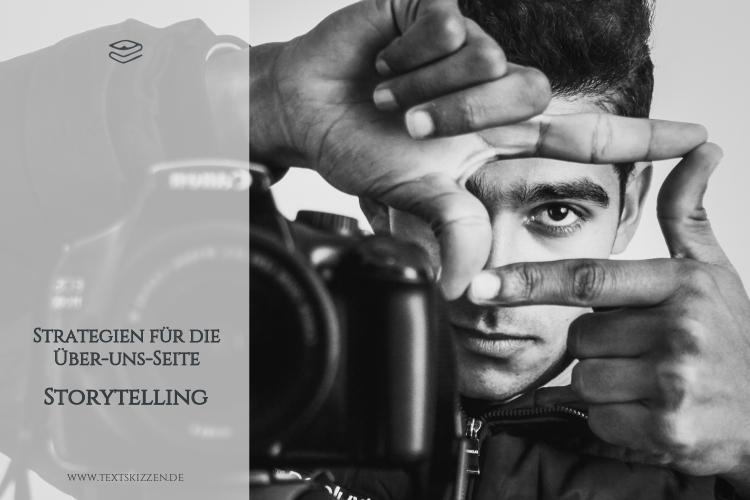 Storytelling auf der Über-uns-Seite: Mann mit Kamera