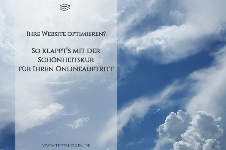 Website optimieren: Schönheitskur für Ihren Onlineauftritt; Ausschnitt eines Wolkenhimmels