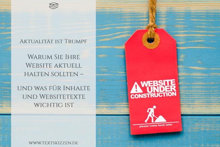 Website aktuell halten: rotes Schild mit Aufschrift Website under Construction